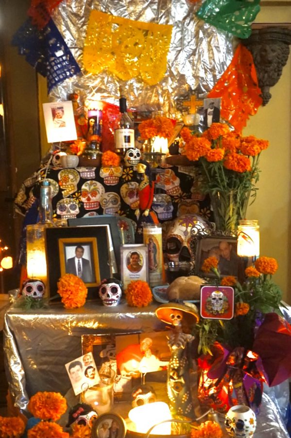 Here is an example of an ofrenda.